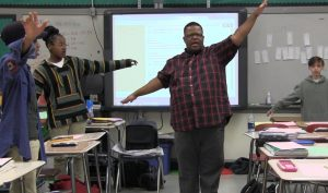 Jimmel Williams, a master reach teacher in Charlotte-Mecklenburg Schools, teaches at one of the more than 100 Opportunity Culture schools currently in the U.S.